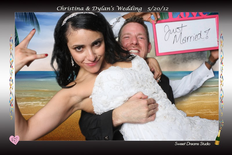 Photo Booth Christina Dylan's Wedding Harbour View NJ NY