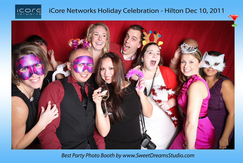 Photo Booth iCore Networks Christmas Holiday Party Hilton NJ NYC