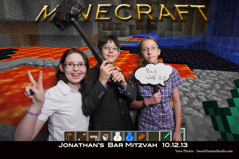 Photo Booth for Jonathan's Bar Mitzvah Party Rental at River Creek Country Club