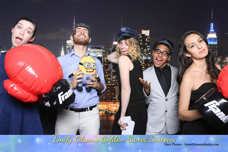 minions photo booth sweet 16 NJ NY