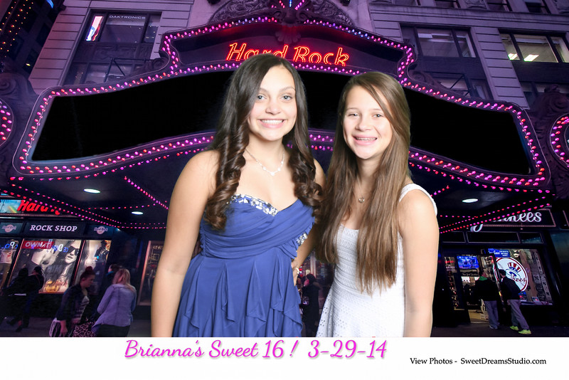 NY sweet 16 photography booth hard rock