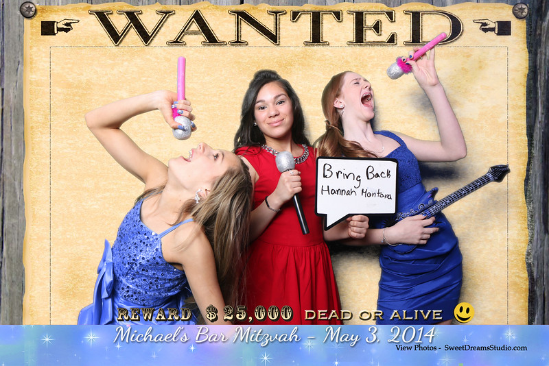 Sample Photography Booth Design for Michael's Bar Mitzvah Party NJ NY