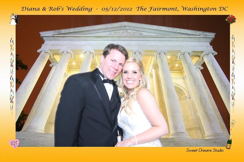 Photo Booth Diana  Rob's Wedding Fairmont Hotel NJ NYC