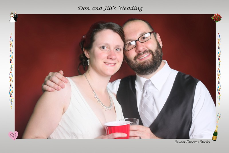 Photo Booth Don Jill's Wedding Old Town Hall NJ NYC DC