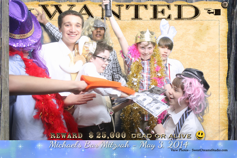 Photo Booth Entertainment for Michael Bar Mitzvah Party at River Creek Country Club