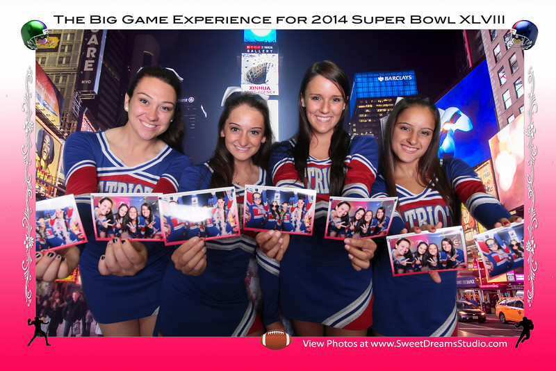 Super Bowl party photo booth rental NY Manhattan