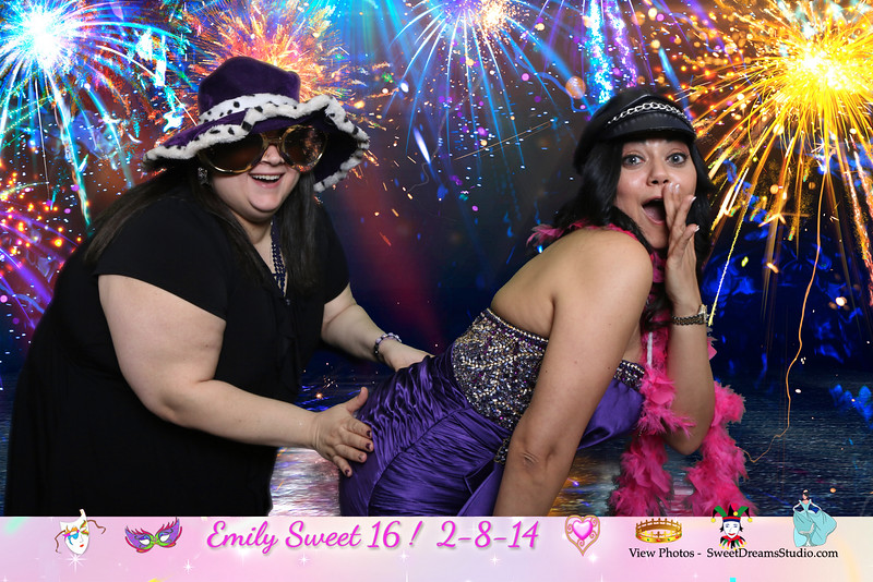 photo booth sweet 16 birthday party NY