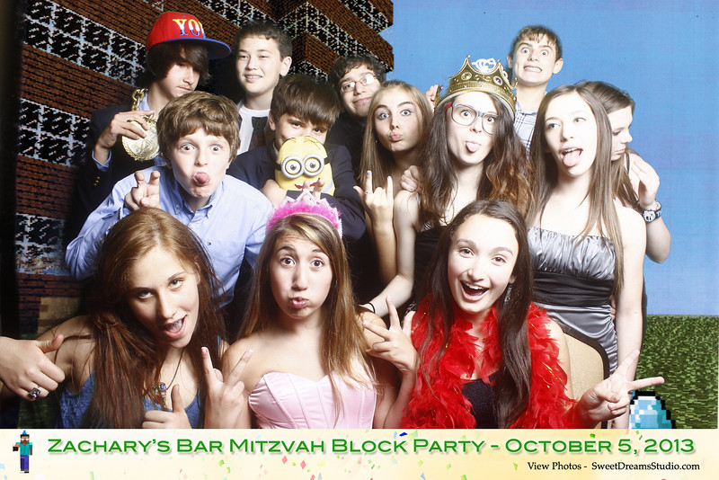 Sweet Dreams Photo Booth for Zack's Bar Mitzvah Party at Lansdowne Resort