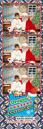 Dang...that's an ugly sweater! Thanks for stopping by and snapping photos with Santa! Looking for a photo booth for your next event? Head to www.bluebuscreatives.com for more info.