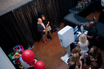 Aerial view of photo booth