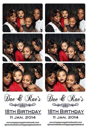 Dae & Rae`s 18th Birthday
