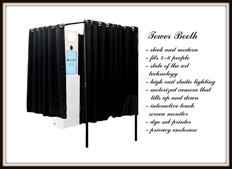 Tower Booth, available in Bronze Package, sleek and modern