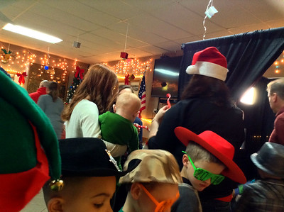 Photo Booth fun at the Christmas Party- 2014