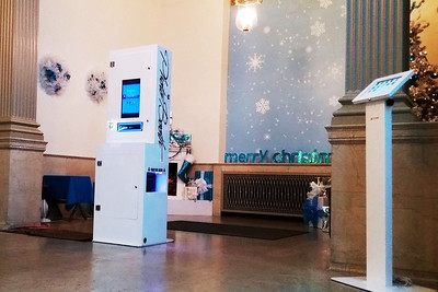 Open-air setup at Henry Ford Museum for PLEX Holiday  Party