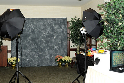 Open-air Photo Booth with Muslin Backdrop