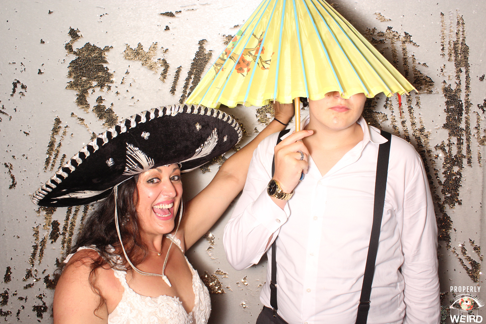 Bride in Properly Weird Photo Booth