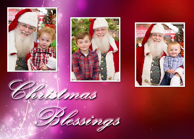 Christmas Blessings red