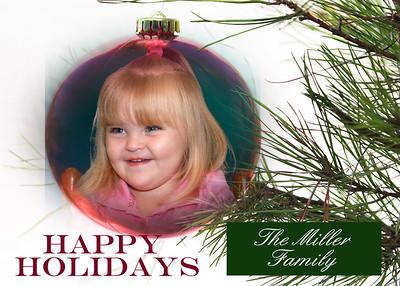 Happy holiday ornament 5x7