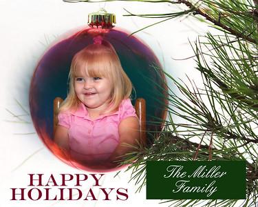Happy holiday ornament