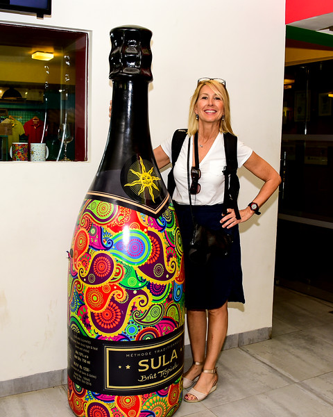 "a ""Paula Sized"" bottle of wine"