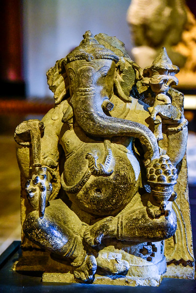 one of many statues on display - Ganesh