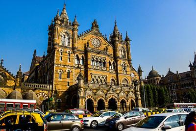 the Mumbai train station main building