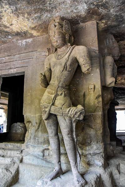 Huge gaurdians of the tombs of Elephanta