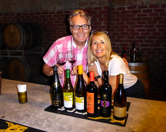 Paula and I at our Sula wine tasting