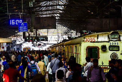 boarding the 3095 service to the outskirts of Mumbai