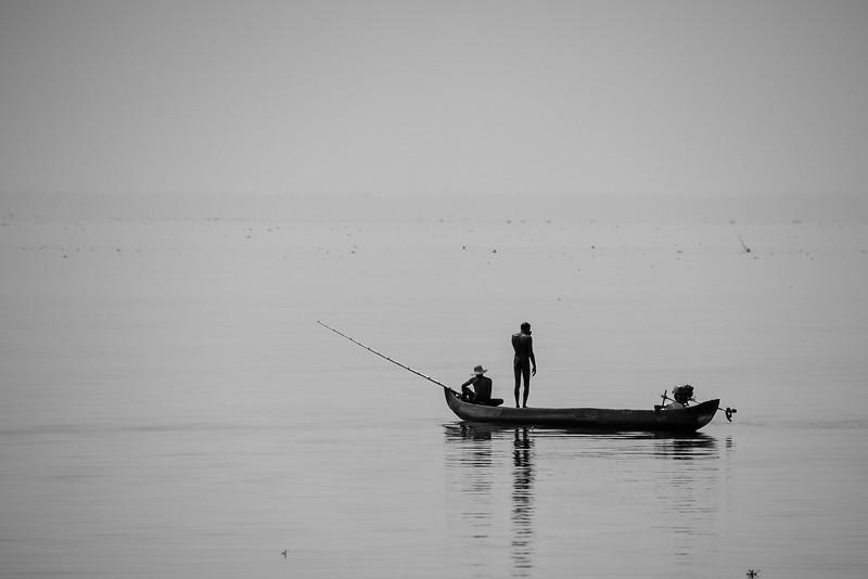 Kumarakom - fishing on the backwaters