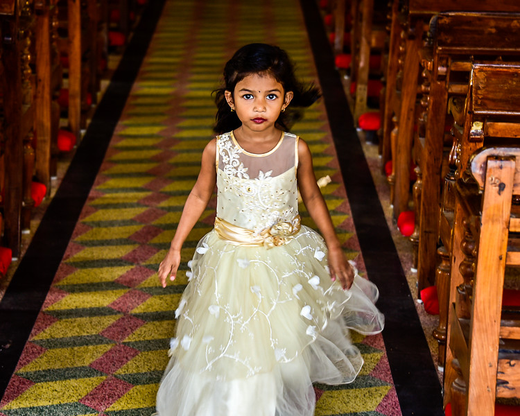 Cochin - a beautiful girl leaving church