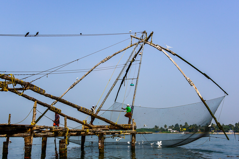 Cochin - more French fishing nets