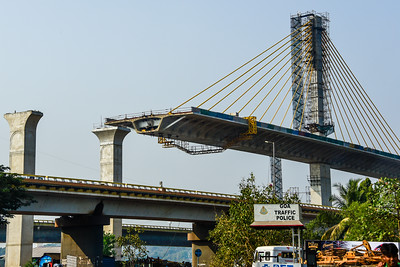 Goa - fabulous new bridge being built to handle the tourists