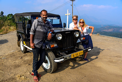 Kerala jeep adventure, our cool driver in flip flops