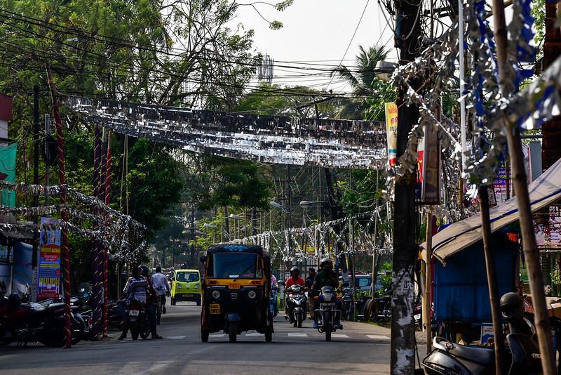 Cochin - religious celebrations require lots of glitter