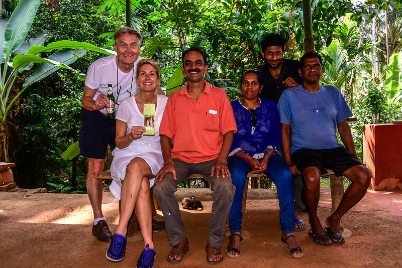 Goa - Savoi Plantation, us with the owner and his team