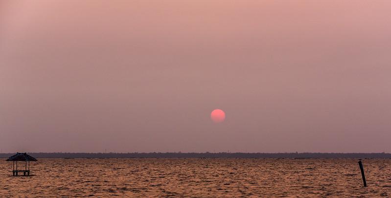 Kumarakom - our last sunset of the trip