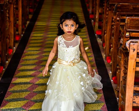Cochin - a beautiful girl leaving church