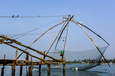 Cochin - more French fishing nets