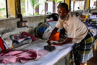 Cochin - the man who irons the shirts