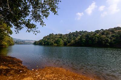 a Kerala lake, reminiscent of northern Ontario