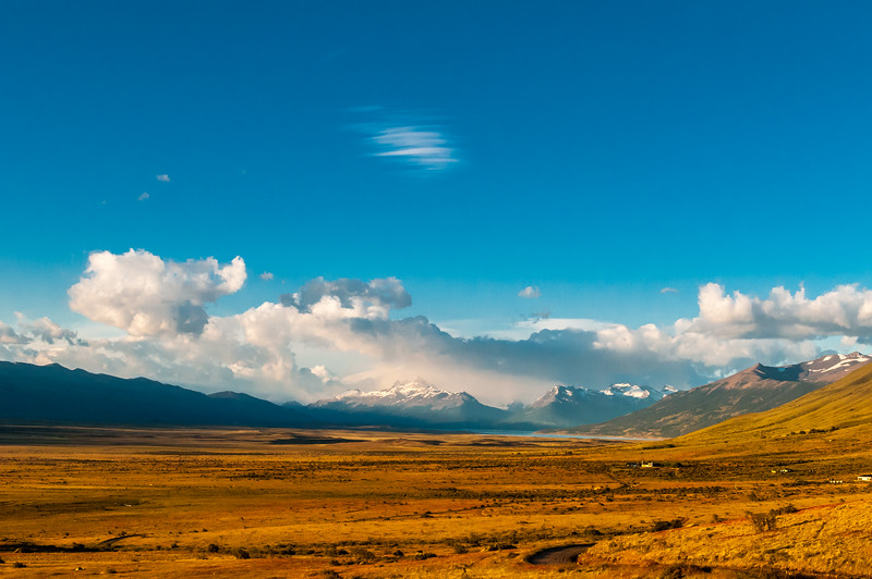 Argentina Patagonia - vast plains & snow capped peaks