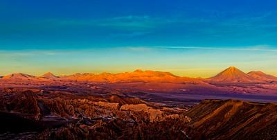 Sunset in the Atacama Desert