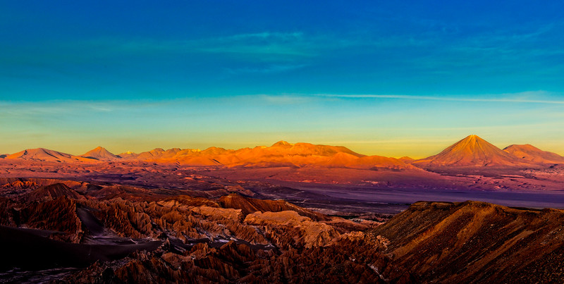 Sunset in the Atacama Desert