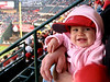 Lilli's first Angels baseball game at 10 months old. She loved her rally monkey.