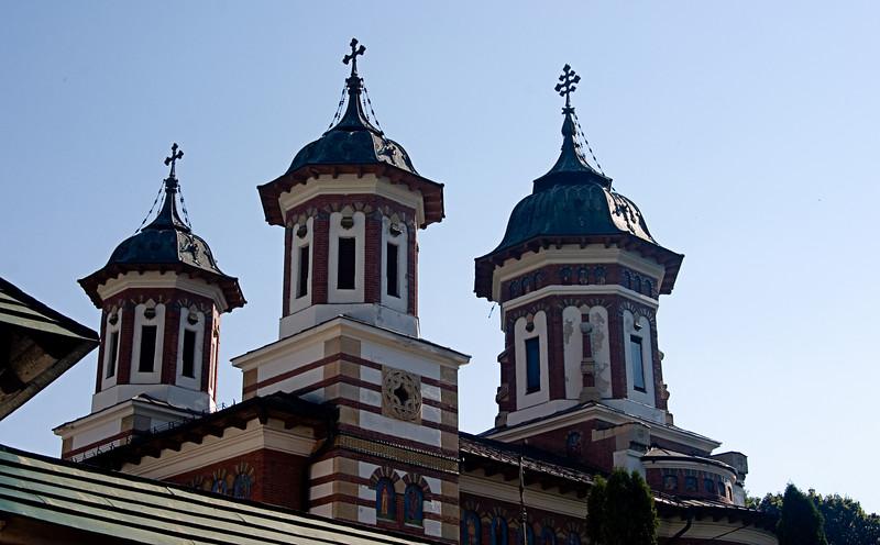 <center>Monastary Domes<br>Rila, Bulgaria </center>