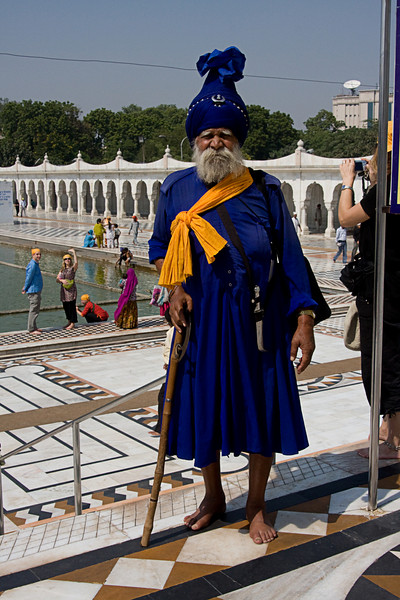 <center>Sikh in Traditional Dress <br>Delhi, India </center>