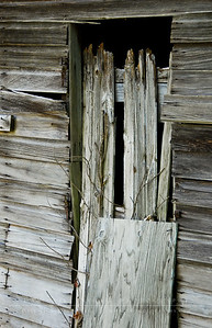 Hay shed door  Villeneuve Farm, Bedford, NH