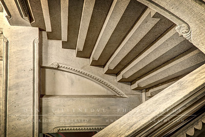 A stairwell in the State Capitol.