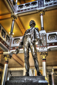 Statue of Nathan Hale in the State Capitol.